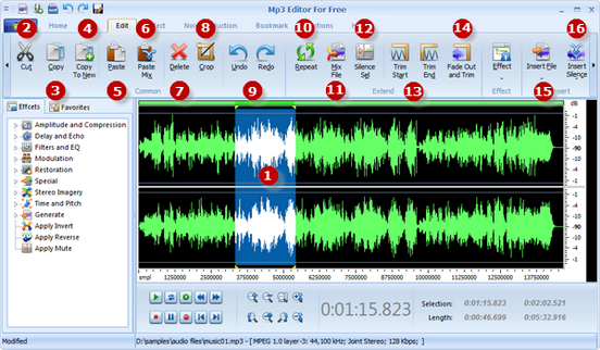 Edit music files