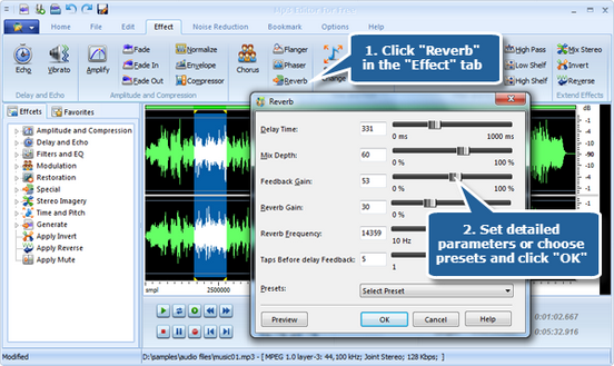 How to Add Reverb Effect to Your Sound File? – MP3 Editor