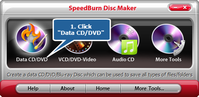 Activate the data DVD/CD burner