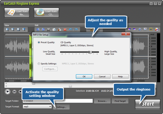Adjust output quality