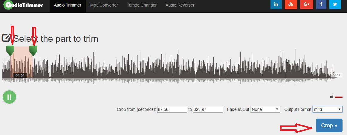 Select Audio Part